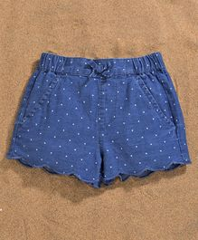 Fox Baby Shorts Dots Print - Blue