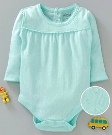 Fox Baby Full Sleeves Solid Colour Onesie - Mint Green
