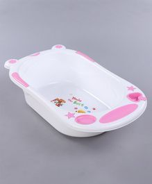 Babyhug Bath Tub (Print May Vary) - White Pink