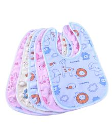 My Newborn Cotton Bibs Set of 5 - Multicolour