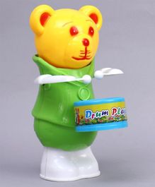 Luvely Drum Player Bear Wind Up Toy - Green