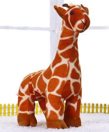 Play Toons Giraffe Soft Toy Brown - Height 45 cm