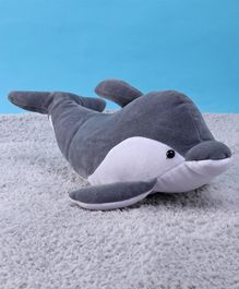 Dolphin Soft Toy Grey and White - Height 21 cm