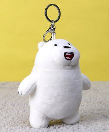 Starwalk Ice Bear Plush Clip On Toy White - Height 17 cm
