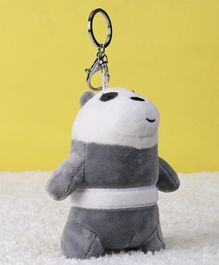 Starwalk Panda Bear Plush Clip On Toy Grey & White - Height 14 cm