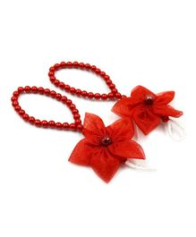 8834090a9e48e2 Magic Needles Flower Applique Barefoot Sandals - Red