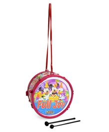 Luvely Toy Drum With Sticks and Belt - Pink