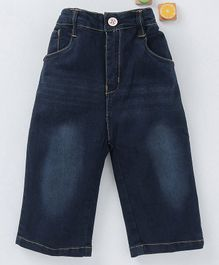 Olio Kids Full Length Monkey Wash Jeans - Blue