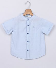 Beebay Solid Half Sleeves Shirt - Blue