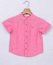 Beebay Solid Half Sleeves Shirt - Pink