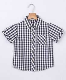 Beebay Checkered Half Sleeves Shirt - Black