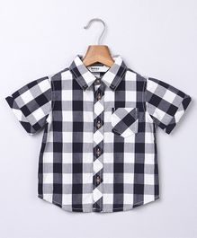 Beebay Checkered Half Sleeves Shirt - Blue