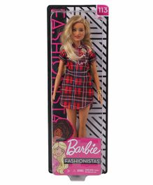 Barbie Fashionistas Doll In Western Outfit Red & Black - Height 29.5 cm