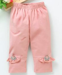 Meng Wa Full Length Lounge Pant Frill Design - Peach