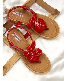 D'chica Bow Design Sandals - Red
