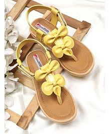 D'chica Bow Design Sandals - Yellow