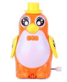 Playmate Wind Up Penguin Toy -  Orange