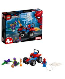 Lego Spider-Man Car Chase Building Blocks Set Multicolour - 52 Pieces