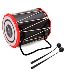 Speedage Classic Dholki With 2 Sticks (Colour May Vary)