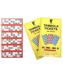 Bingo - Tambola Tickets With Red Border