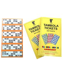 Bingo - Tambola Tickets With Orange Border