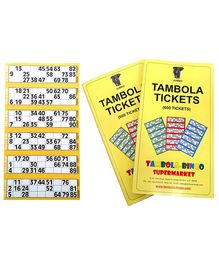 Bingo - Tambola Tickets With Yellow Border