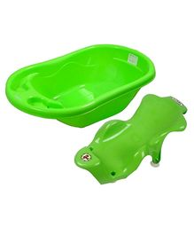 Sun Baby Bath Tub and Bath Sling - Green