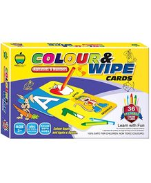 Apple Fun Colour And Wipe Alphabets And Numbers Cards Senior