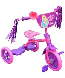 Barbie Tricycle With Shiny Frills - Pink And Purple