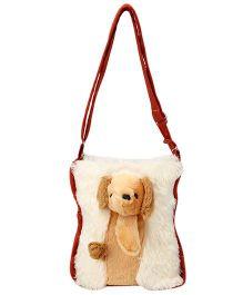 IR Soft Fur Shoulder Bag Dog Applique (Color May Vary) 29a11e46f4