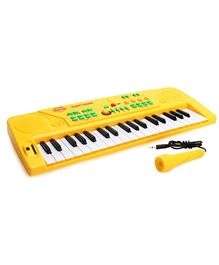 Mitashi Skykidz Party Piano with Microphones - Yellow