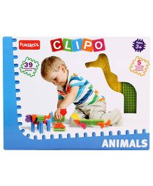 Funskool Clipo Animals - 39 Pieces