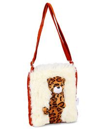 IR Soft Fur Shoulder Bag Leopard Applique (Color May Vary) 81f4c3743d