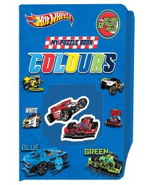 Sterling Hotwheels Puzzle Book Colours - Blue