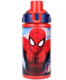 Spider Man Pop Up Straw Bottle Red - 380 ml