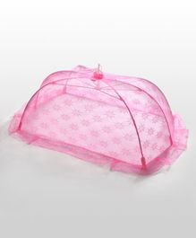 Babyhug Mosquito Net Floral Design Pink - Medium