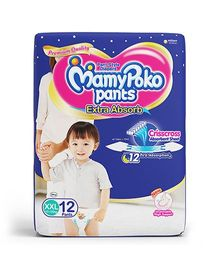MamyPoko Extra Absorb Pant Style Diapers Extra Extra Large - 12 Pieces