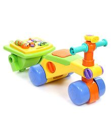 Tomy Funskool Toddle Activity Walker And Ride On - Multi Color