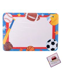 Kidoz Sports Print Mat And Coaster - White