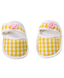 Morisons Baby Dreams Baby Booties Yellow Checks
