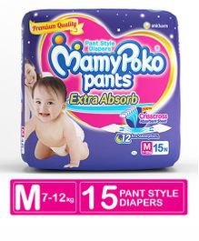 MamyPoko Extra Absorb Pant Style Diapers Medium -15 Pieces