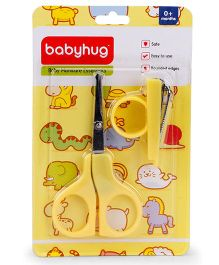 Babyhug Scissors & Nail Clipper Set - Yellow