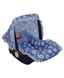 1st Step Carry Cot Cum Rocker Teddy & Fish Print - Blue