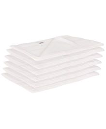 Lula Muslin Square Nappies Set of 6 - White