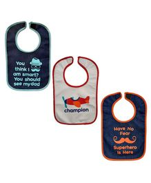 Meukebaby Bibs Pack of 3 - Black White