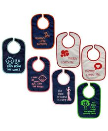 Meukebaby Bibs Multiprint Pack of 7 - Multicolour