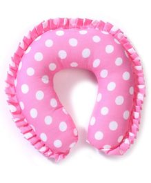 Babyhug Neck Support Pillow With Frill - Pink