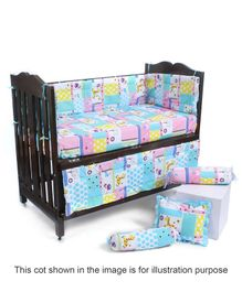 Babyhug Sleepwell Cot Bedding Set - Blue