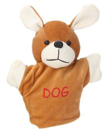 Play Toons Puppy Hand Puppet Brown - Height 20 cm