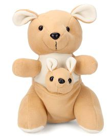 Play Toons Kangaroo With Baby Brown - 28 cm